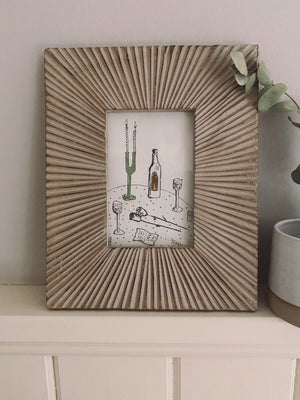 ROYA - Art Piece 'Amore' & Reclaimed Wood Frame