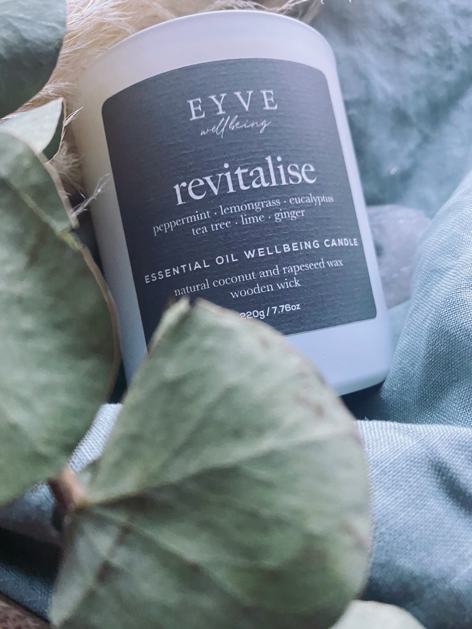 EYVE Wellbeing - Revitalise Essential Oil Wellbeing Candle