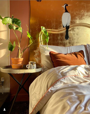4 Piece 100% Organic Luxurious Bamboo Bedding - Tangerine Dreams