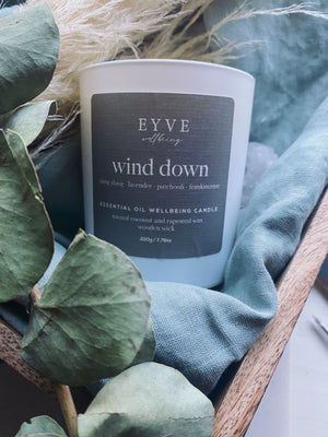 EYVE Wellbeing - Wind Down Essential Oil Wellbeing Candle