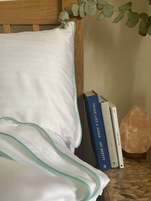 4 Piece 100% Organic Luxurious Bamboo Bedding - Mint Dreams