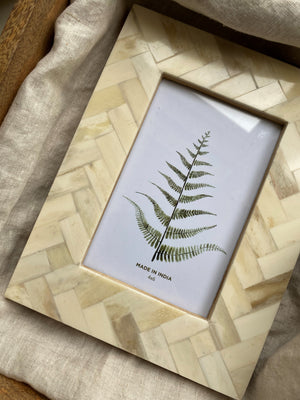 Faux Ivory Glossy Frame