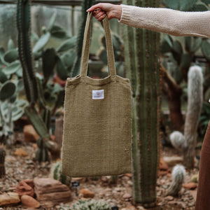 Hemp & Hope - Reusable Tote Bag - Khaki