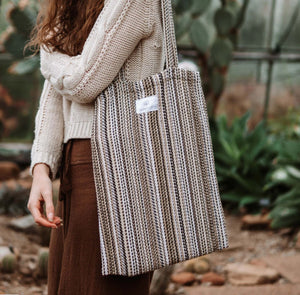 Hemp & Hope - Reusable Tote Bag - Striped
