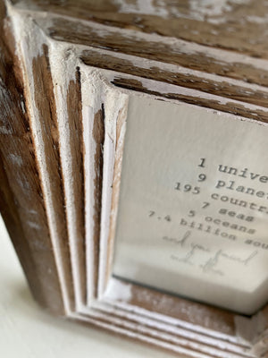 Rustic Shabby Chic Photo Frame - 4 X 6 Inches