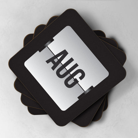 Flip Clock Personalised Date & Time Coasters - Paperhappy