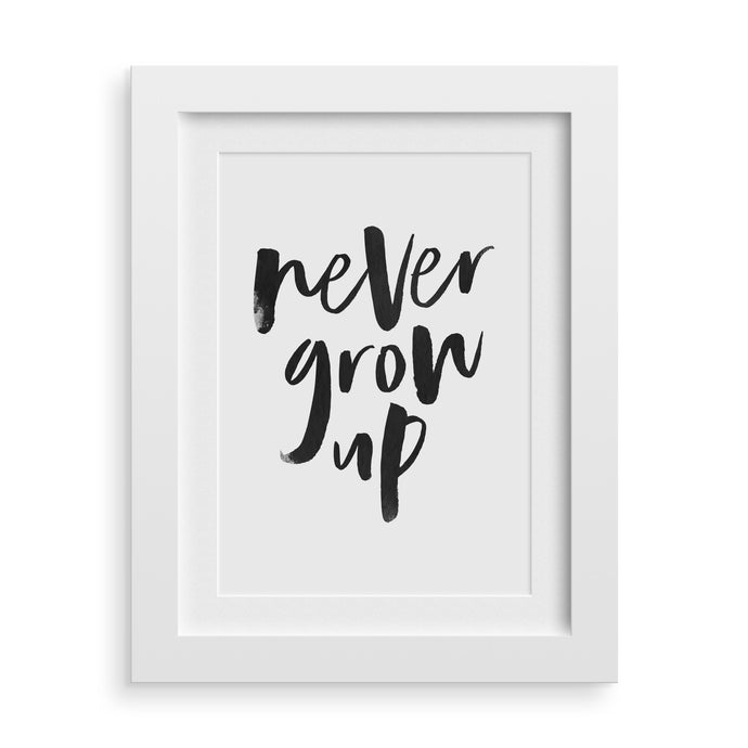 never grow up nursery print