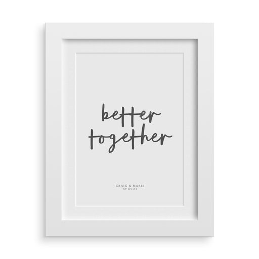 Better Together Personalised Wedding Print