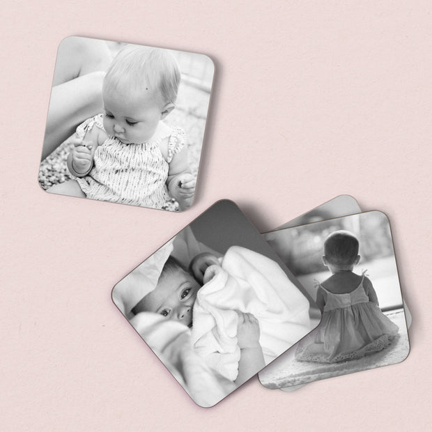 Personalised Black & White Photo Coasters