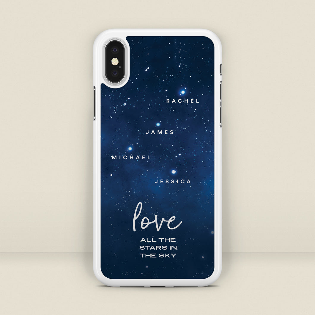 All The Stars In The Sky - Personalised Family Phone Case