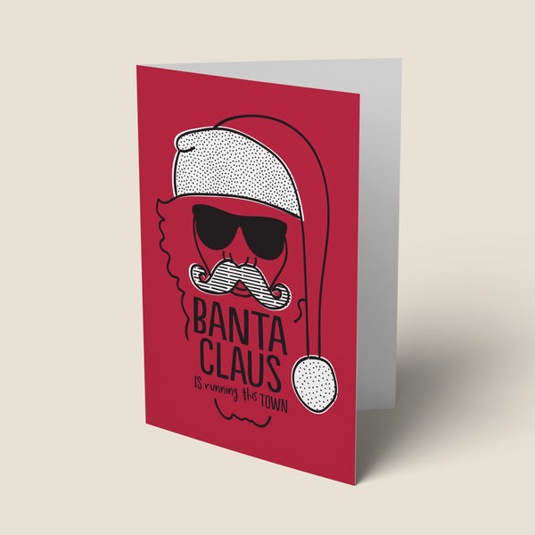 'Banta Claus' Funny Christmas Card