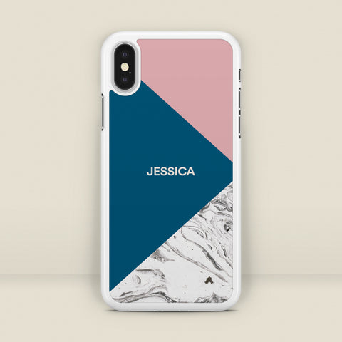 Marble Geometric - Personalised Name Phone Case