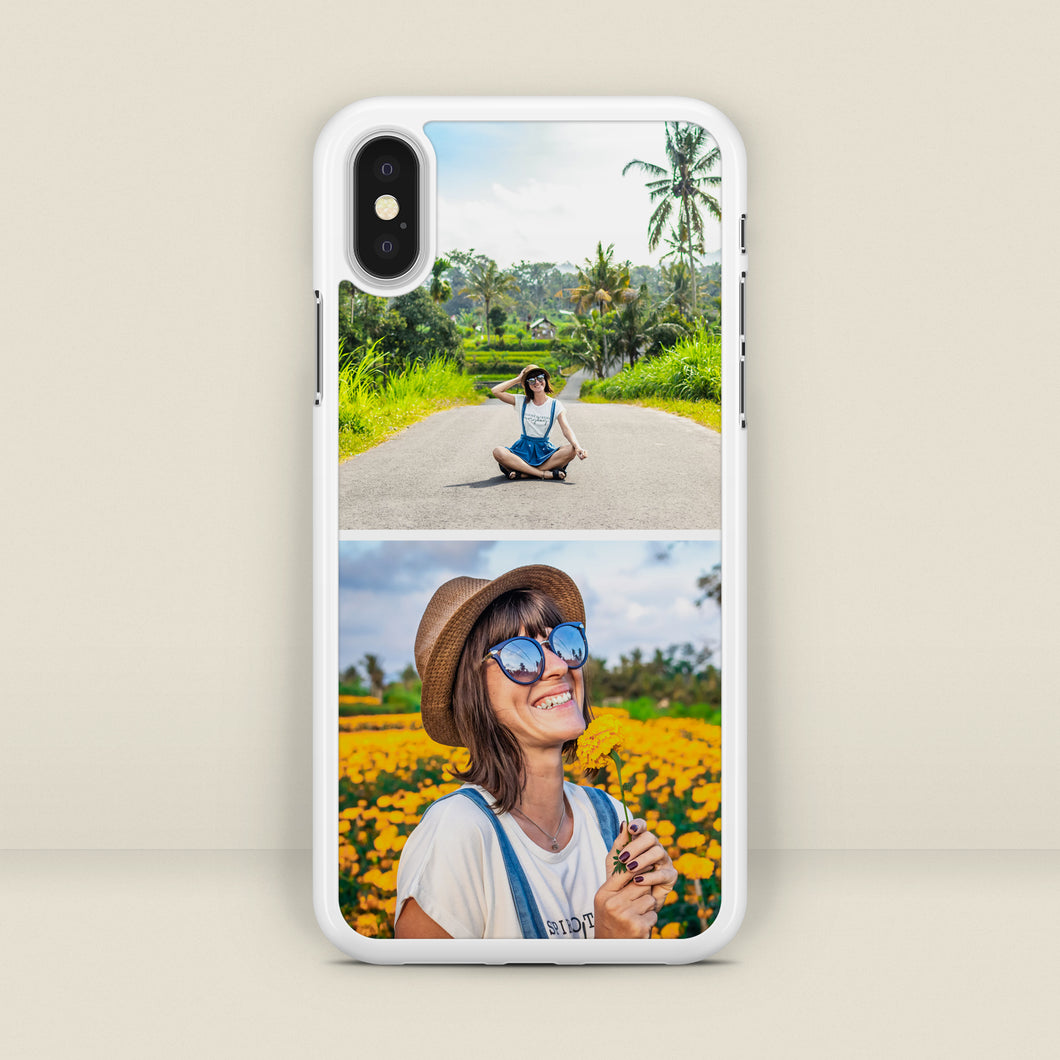 Personalised Duo Photo Montage iPhone Case