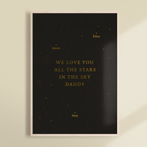 All The Stars In The Sky Foiled Print