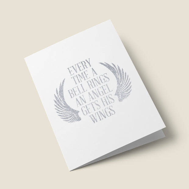 An Angel Gets His Wings - Christmas Card