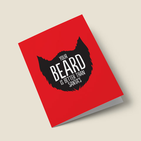 'Better Beard Than Santa' Christmas Card