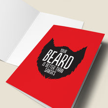 Load image into Gallery viewer, 'Better Beard Than Santa' Christmas Card