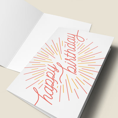 Burst Happy Birthday Card