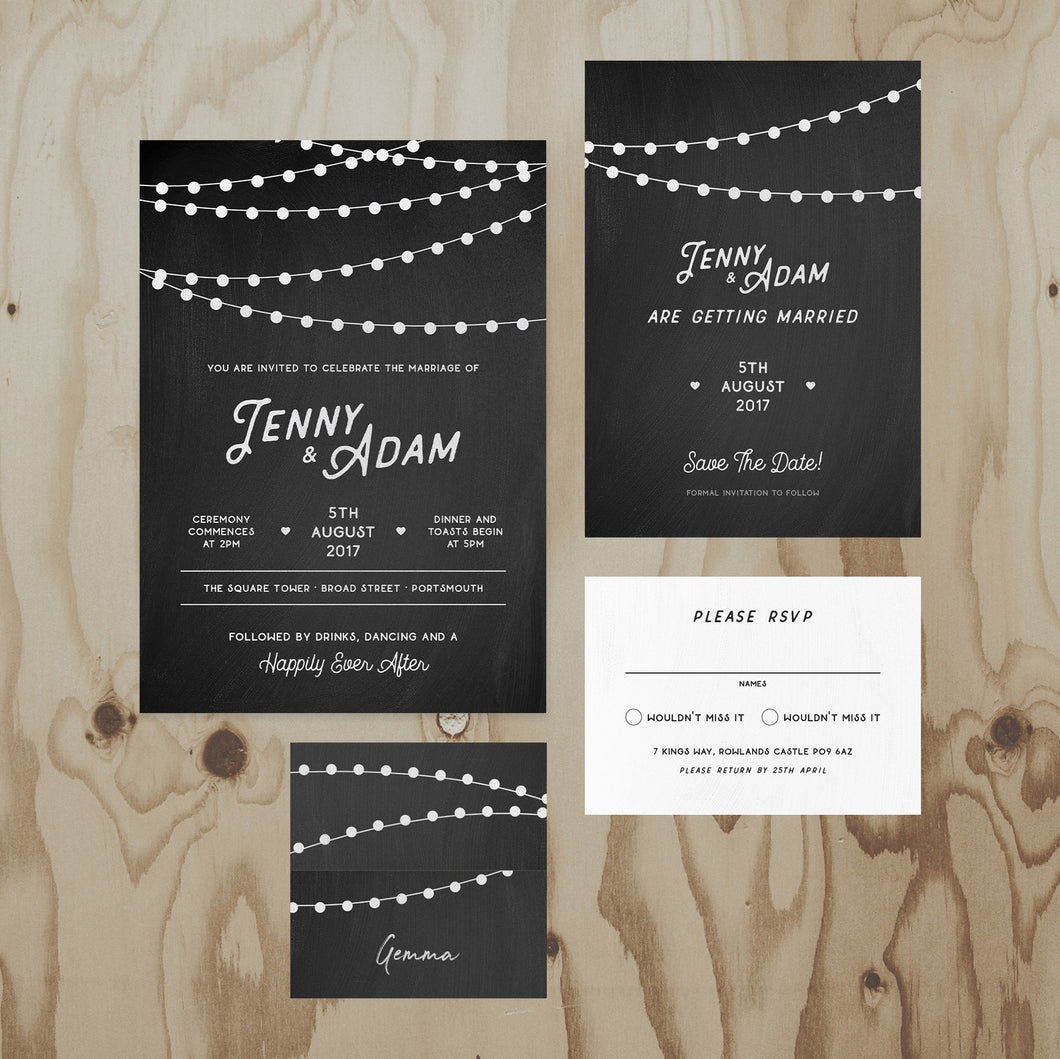Chalkboard Wedding Stationery Collection