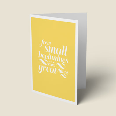 Great Things - New Baby Card