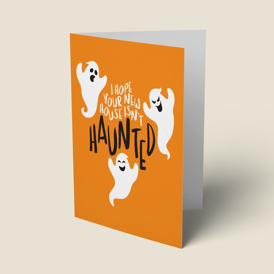 Haunted New Home Card
