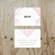 Marble Wedding RSVP card