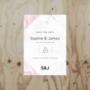 Marble Wedding Save The Date