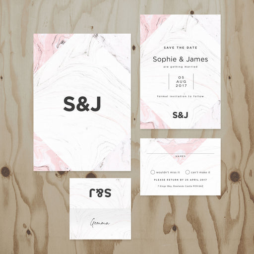 Marble Wedding Stationery Collection