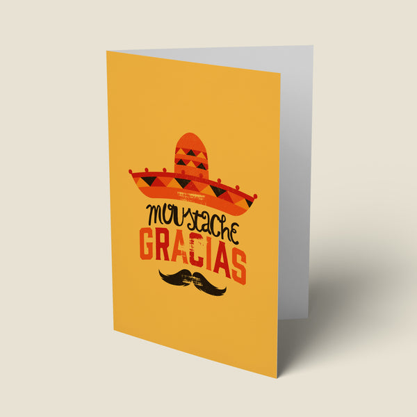 Moustache Gracias - Thank You Card