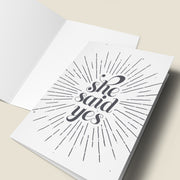 She Said Yes Engagement Card