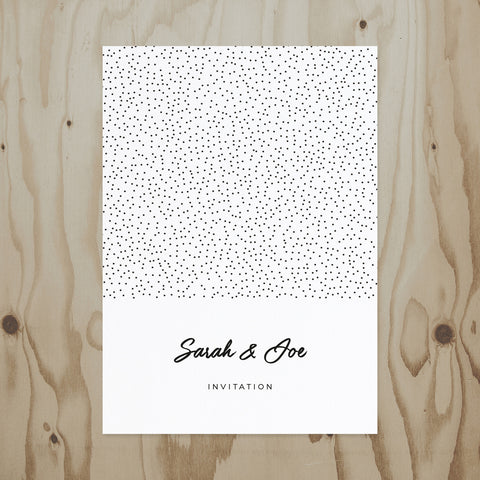 Speckled Wedding Invitation back