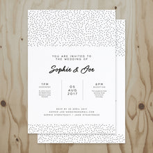 Load image into Gallery viewer, Speckled Wedding Invitation