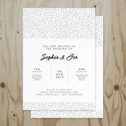 Speckled Wedding Invitation