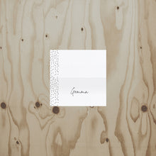 Speckled Wedding Place Card
