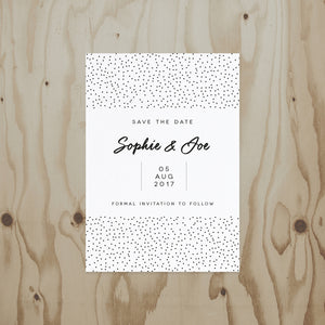Speckled Wedding Save The Date