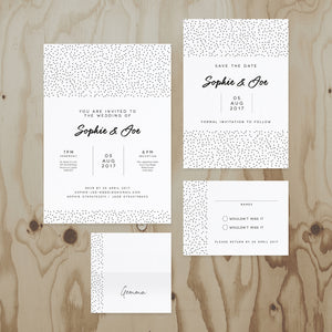 Speckled Wedding Stationery Collection