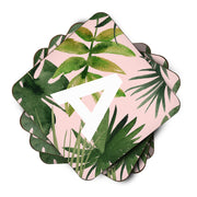Tropical - Personalised Initial Coasters