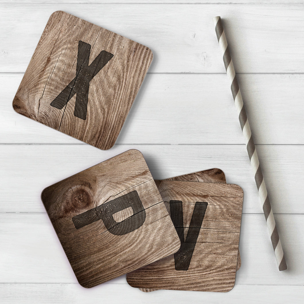 Woodburn Personalised Initials Coasters - Paperhappy