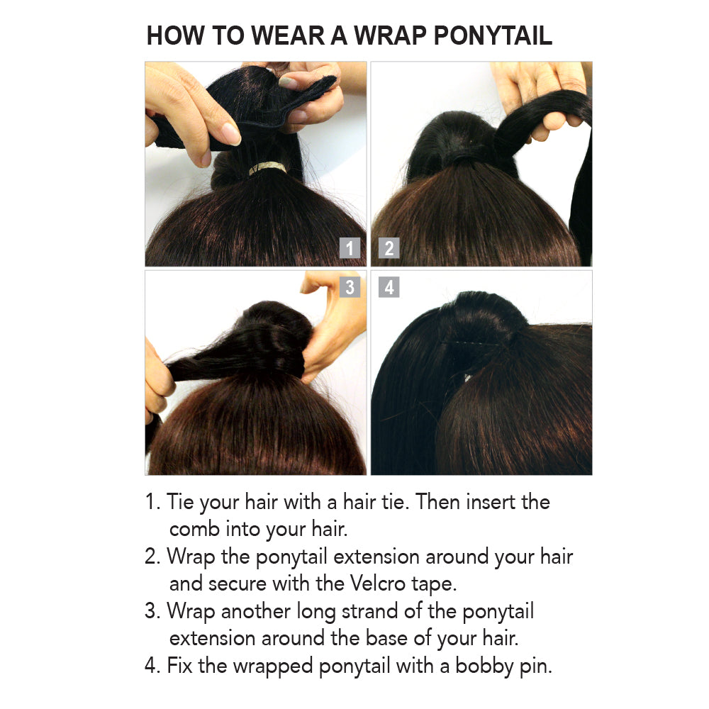 WRAP PONYTAIL SUPER WAVE
