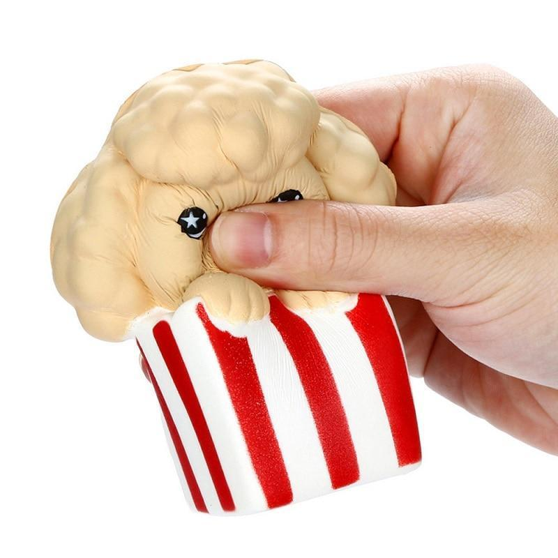 Squishy chien pop corn