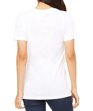 Load image into Gallery viewer, Unisex White Viscose Bamboo Organic Cotton Short Sleeve Tee