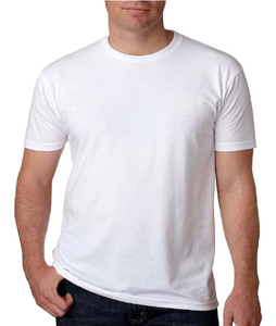 Unisex White Viscose Bamboo Organic Cotton Short Sleeve Tee