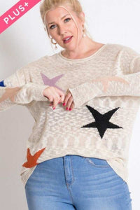 Piper Plus Size Star Sweater Top