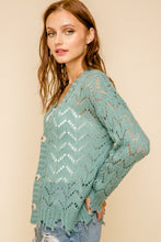 Load image into Gallery viewer, Vintage Teal Distressed Cardigan