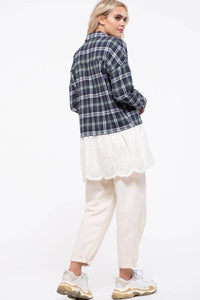 Plaid Ruffle Tunic