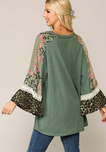 Load image into Gallery viewer, Tracy Light Olive Mix Sleeve Top