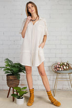 Load image into Gallery viewer, Laura Ivory Cotton Gauze Shirt Dress
