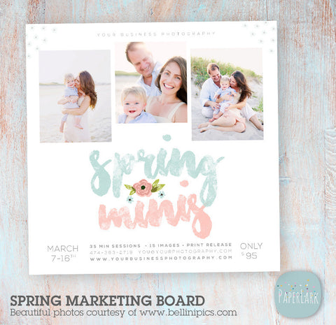 photography templates spring easter marketing board by Paper Lark Designs