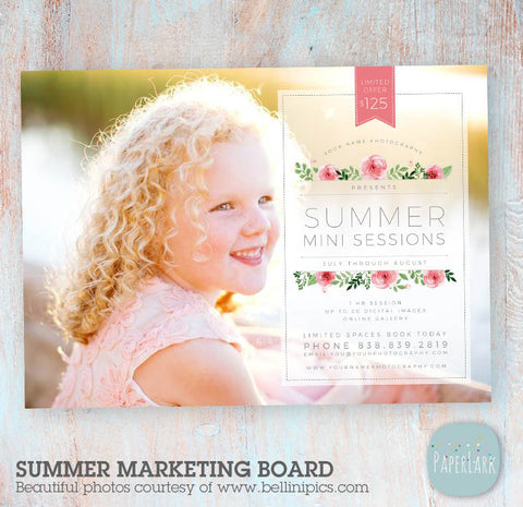 photography templates summer marketing board by Paper Lark Designs
