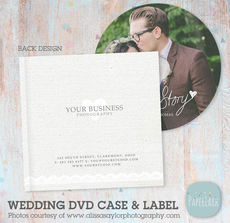 wedding dvd  cd case and label template dw001